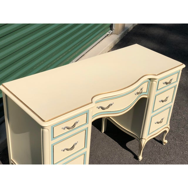 French Provincial Drexel French Provincial Desk Vanity For Sale - Image 3 of 10