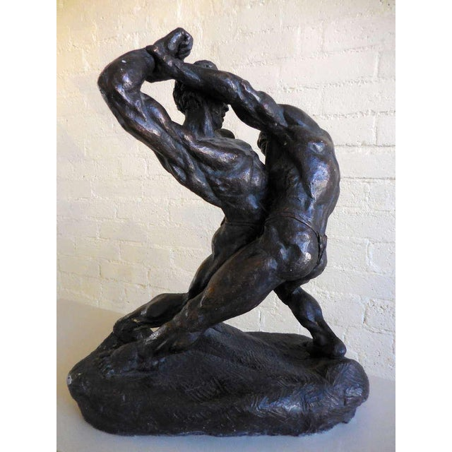 Wrestlers Sculpture by Thomas Holland - Image 2 of 2