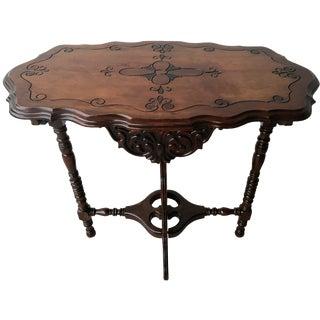 Antique Spindle Leg Parlor Table