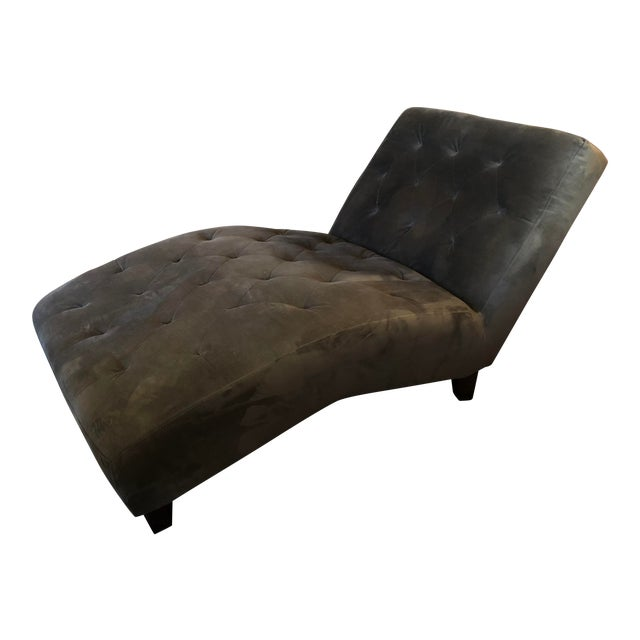 Z Gallerie Chambers Tufted Upholstered Lounge Chaise For Sale