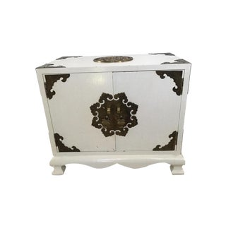 Campaign Chinoiserie Jewlery Cabinet Box For Sale