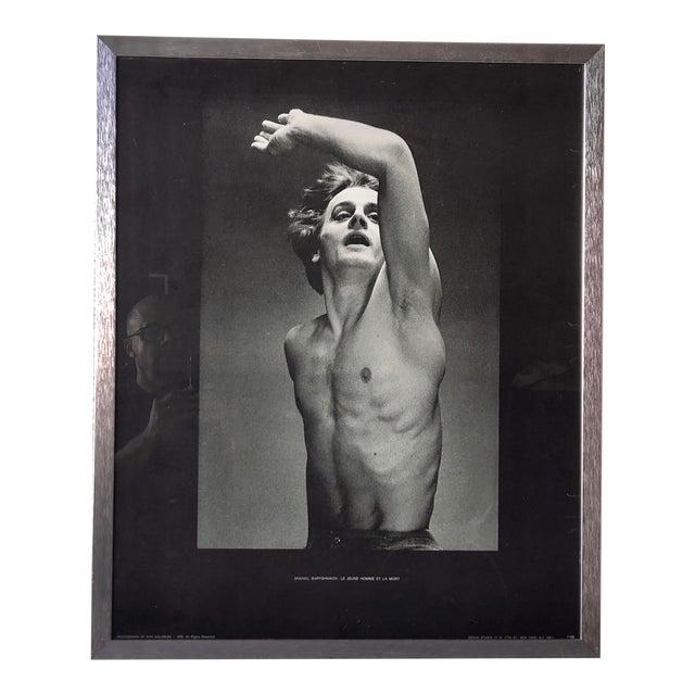 Vintage Mikhail Baryshnikov: Le Jeune Homme Et La Mort Framed Poster. For Sale