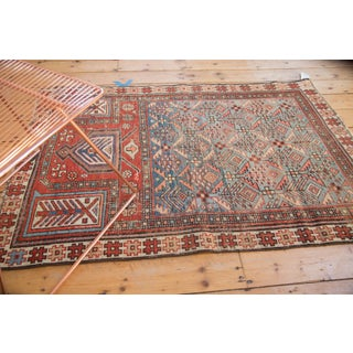 "Antique Caucasian Prayer Fragment Rug - 3'3"" x 4'10"" Preview"
