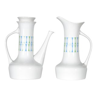 1960s Paul McCobb Mid-Century Modern Coffee Pot & Pitcher for Jackson Internationale For Sale