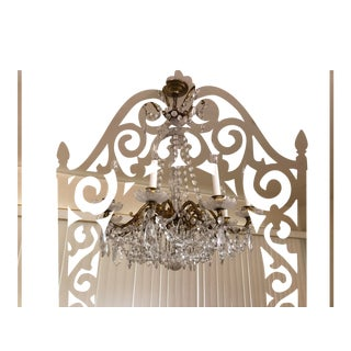 Vintage Brass and Crystal Chandelier Louis XIV Style For Sale