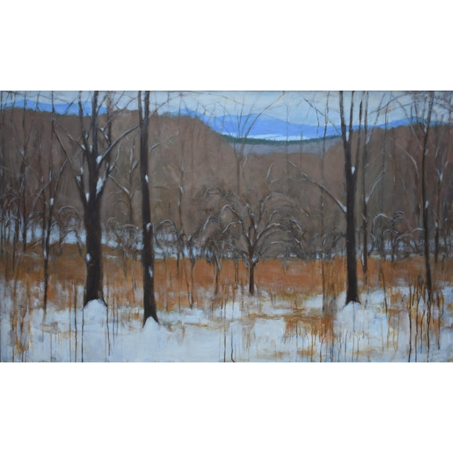 """Stephen Remick """"Heading Up the Hill, Looking Back"""" Large Contemporary Landscape Painting For Sale"""