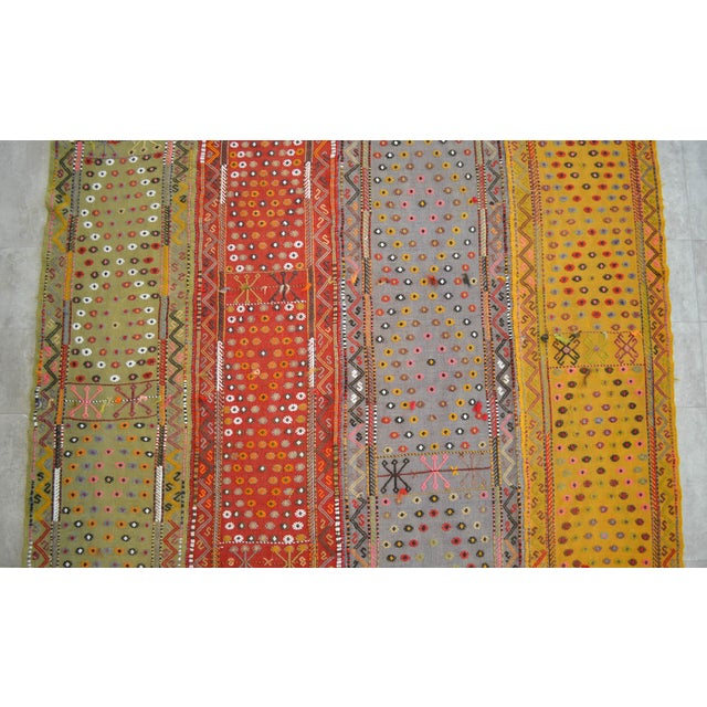 Textile Antique Hand-Woven Turkish Rug Rare Fantastic Piece- 7′ X 11′2″ For Sale - Image 7 of 11