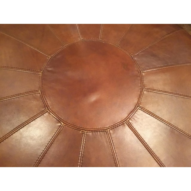 2010s Henredon Leather Granby Ottoman For Sale - Image 5 of 7