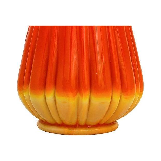 L.E. Smith Art Glass Vase - Image 6 of 7