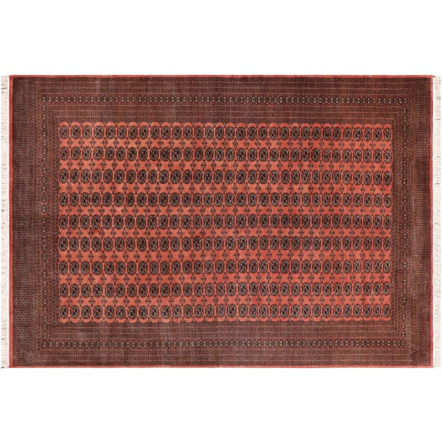Made with luxurious wool to add comfort and style to your décor, this beautiful Bokhara handmade rugs features a beautiful...