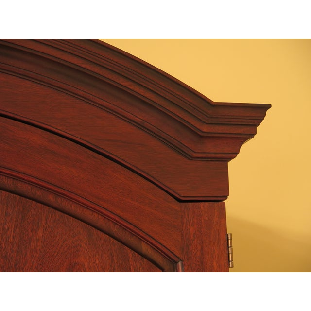 Henkel Harris Mahogany Arched Top Armoire For Sale - Image 9 of 13