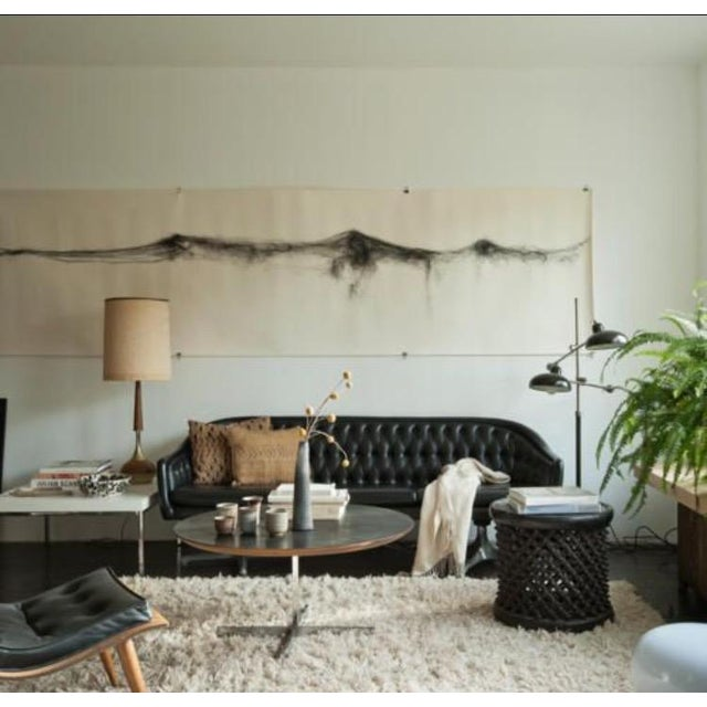 Chromcraft Mid Century Modern Black Tufted Couch - Image 11 of 11