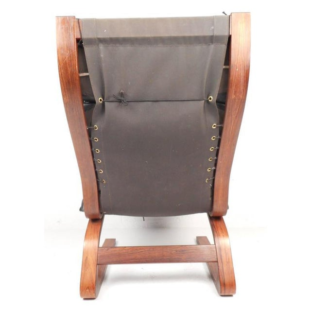 1970s Ingmar Relling Mid-Century Leather Lounge Chair & Ottoman For Sale - Image 5 of 8