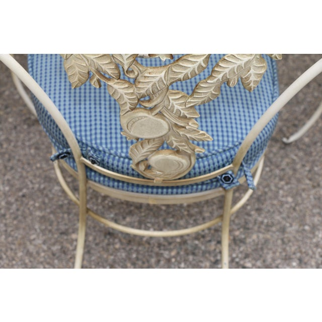 Rustic Metal Fruit Accent Patio Set - Set of 5 For Sale - Image 3 of 13