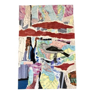 """Nancy Smith Contemporary Collage """"Little Songbirds Everywhere"""" For Sale"""