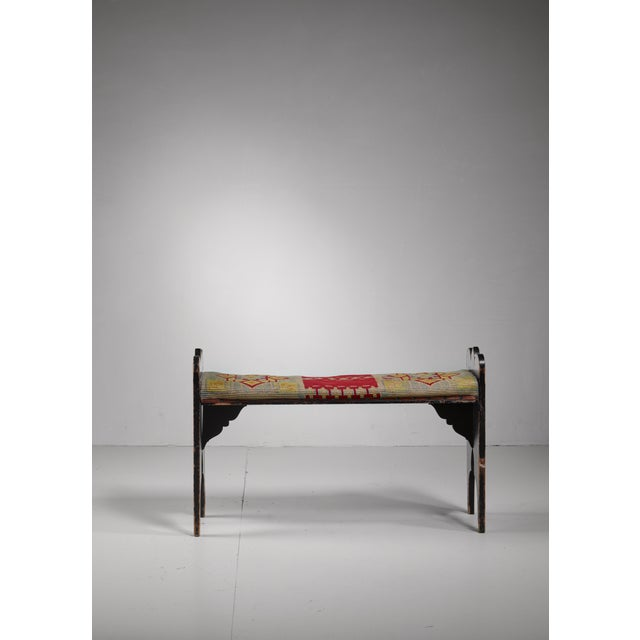 Folk art bench from Sweden, late 19th century - Image 3 of 4