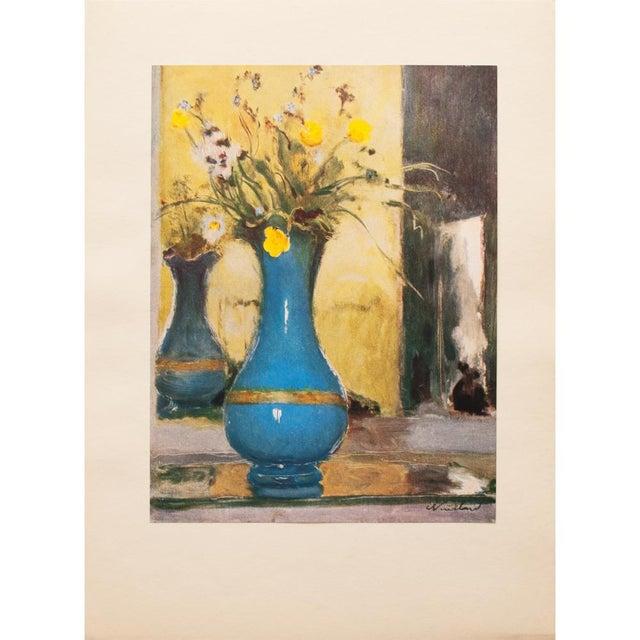 Blue 1947 Edouard Vuillard Le Vase Bleu Lithograph For Sale - Image 8 of 8