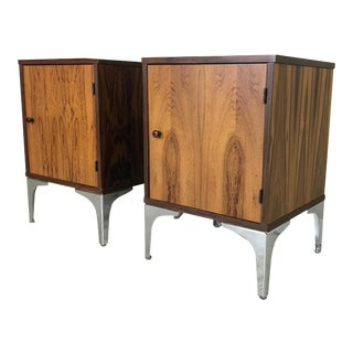Danish Modern Rosewood Bedside Tables/ End Tables - a Pair