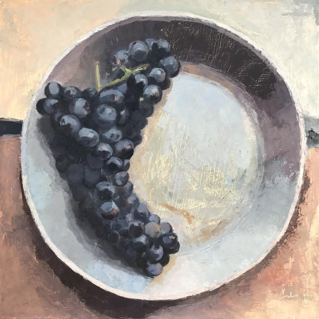 """""""Concord Grapes"""" Original Oil Painting For Sale"""