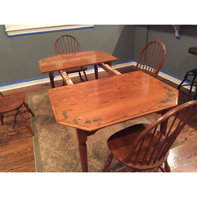 L. Hitchcock Classic Briarcliffe Extension Dining Set For Sale In Chicago - Image 6 of 11