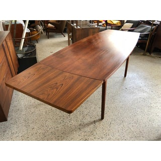 1950s Mid-Century Modern Henning Kjaernulf for Bruno Hansen Boat Shaped Dining Table Preview