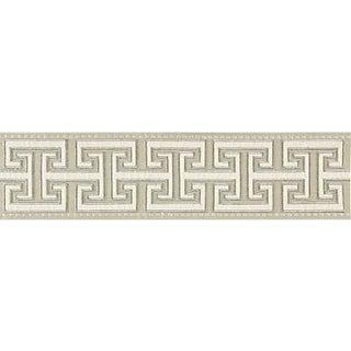 Sample, Scalamandre Luxor Velvet Tape, Flax Fabric For Sale