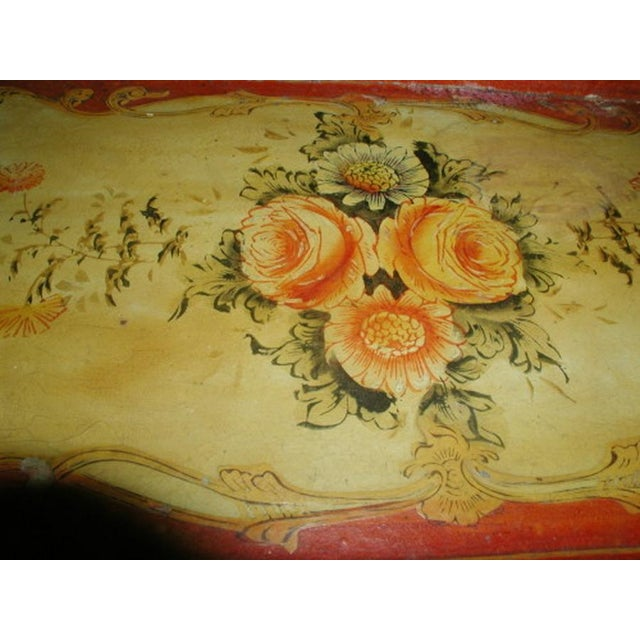 1900's Hand Painted Vibrant Papier Mache Tray - Image 3 of 5