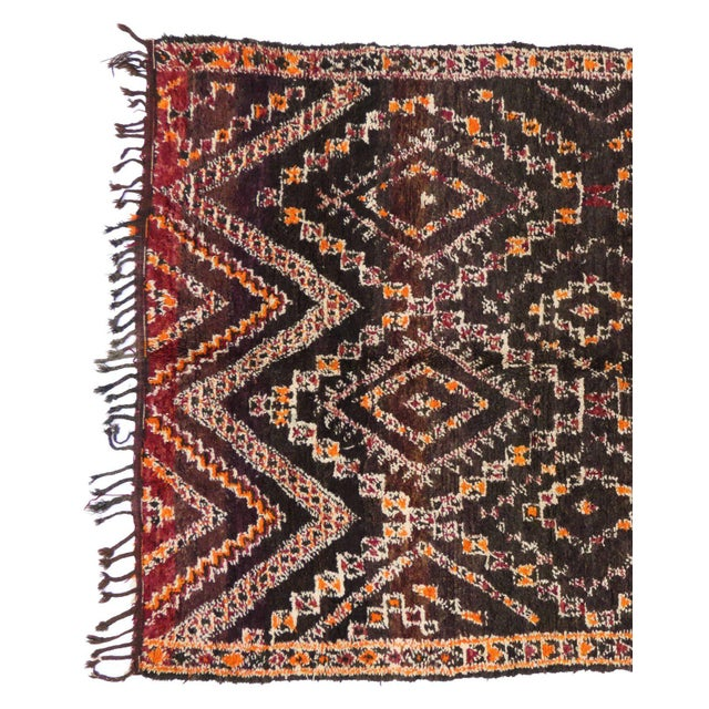Late 20th Century Vintage Beni M'Guild Moroccan Rug - 06'07 X 11'07 For Sale - Image 5 of 8