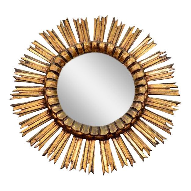 Giltwood Sunburst Mirror For Sale