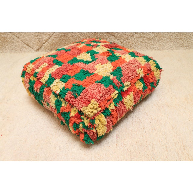 Tufenkian Artisan Carpets Moroccan Colorful Unstuffed Pouf Cover For Sale - Image 4 of 11