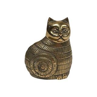 Brass Cat Figure For Sale
