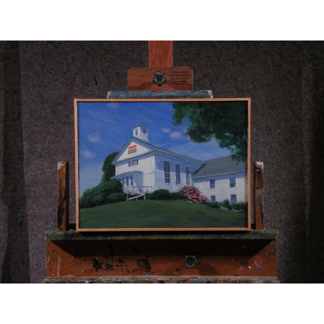 Original Painting of a New England Church - Image 2 of 5