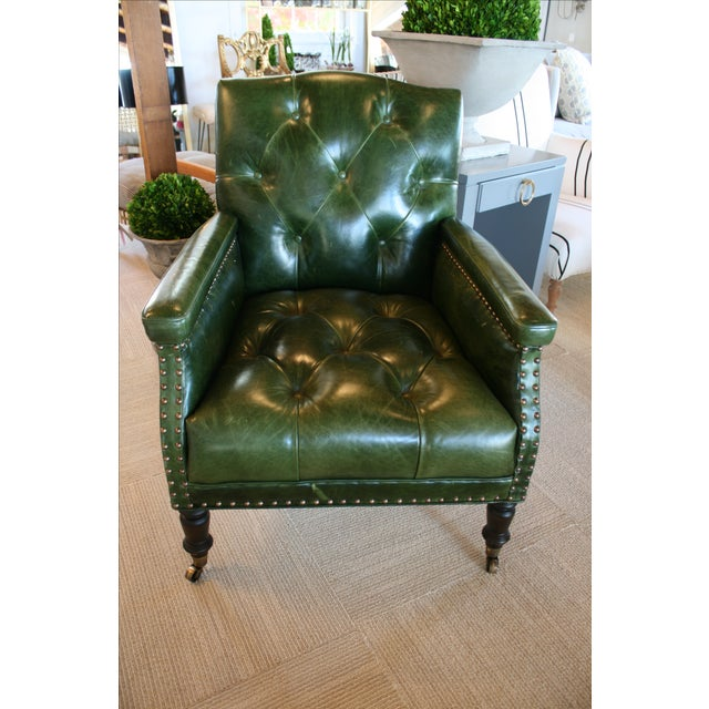 Traditional Cisco Brothers Gallant Green Chair For Sale - Image 3 of 7