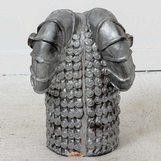 1960s 1960s Mid-Century Plaster Ram's Head Sculpture For Sale - Image 5 of 7