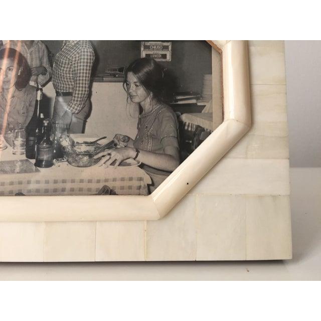 Vintage Bone & Wood Frame, Made India - Image 6 of 7