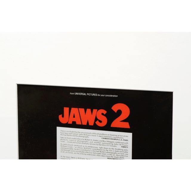 Mid-Century Modern Jaws 2, 1978/ Original Vintage Movie Advertisement Art Transparency For Sale - Image 3 of 5