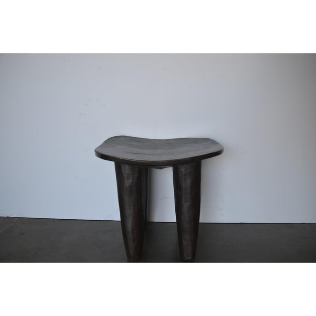 Brown Senufo Modern Wood Stool From Africa For Sale - Image 8 of 8