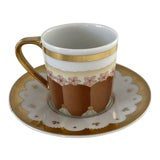 Image of Bulgari Dolci Deco Espresso Cup and Saucer For Sale