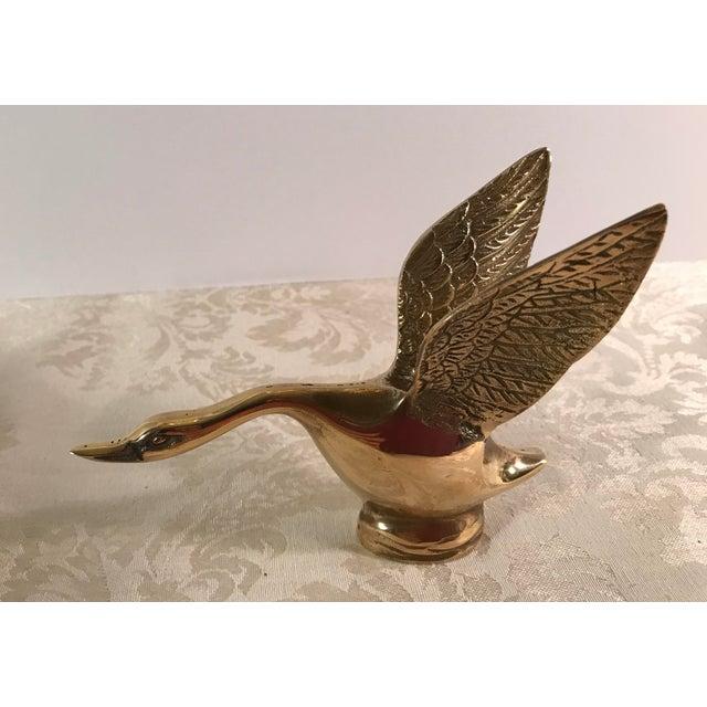 Mid-Century Modern Brass Landing Duck For Sale - Image 5 of 8