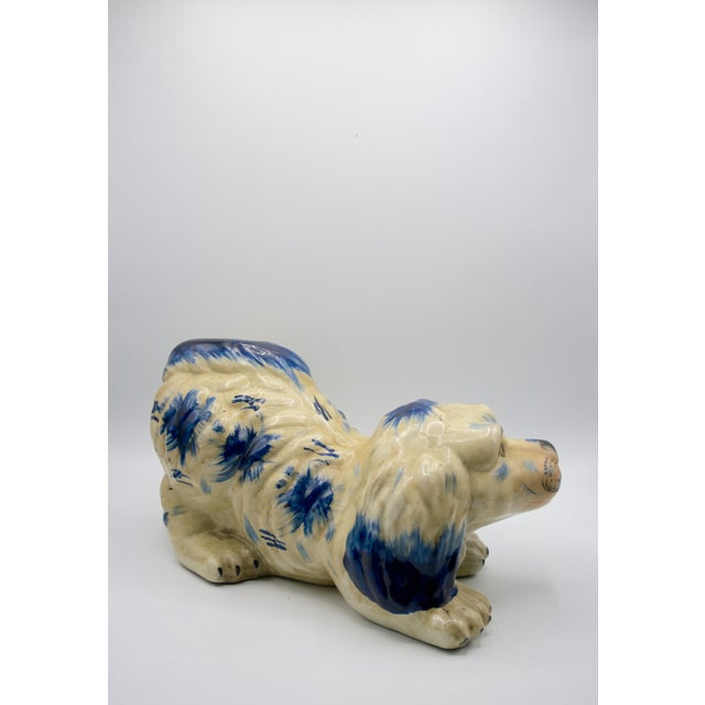 English Traditional Staffordshire Style Puppy Figurine For Sale - Image 3 of 6