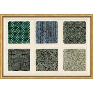 18th Century Japanese Textiles IV Framed Art Print For Sale