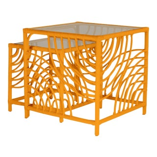 Swirl Nesting Tables - Orange For Sale