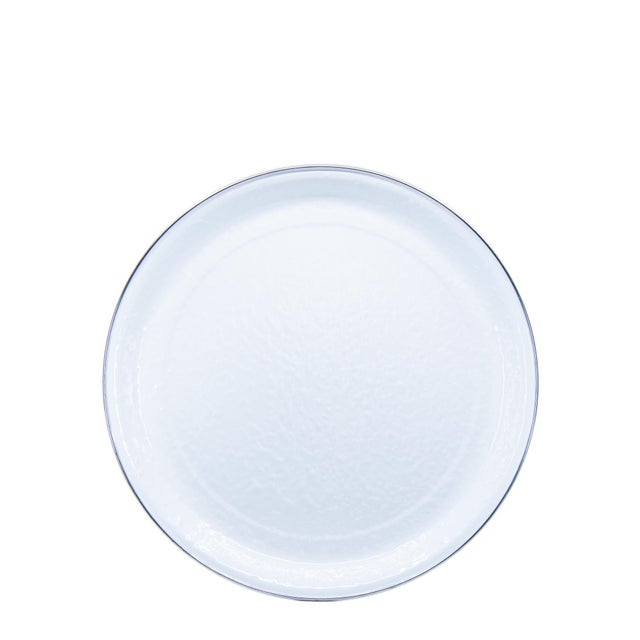 Modern Medium Tray White on White For Sale - Image 3 of 3