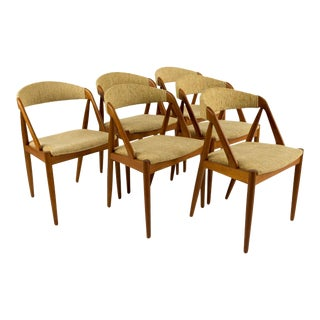 Mid-Century Modern Kai Kristiansen Model 31 for Schou Andersen Dining Chairs - Set of 6 For Sale