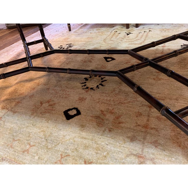 Hollywood Regency Hollywood Regency Glam Tray Top Gilded Coffee Table For Sale - Image 3 of 13