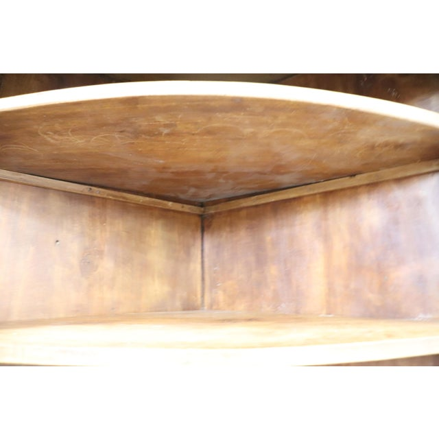 19th Century Italian Solid Chestnut Large Corner Cupboard or Corner Cabinet For Sale - Image 10 of 11
