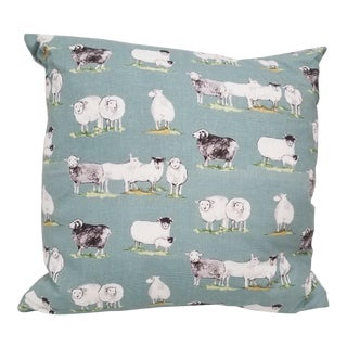Baby Blue Sheep Pillow For Sale