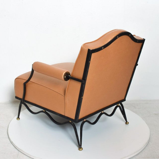 Metal French Neoclassical Revival Mexican Modernist Arm Chairs Attr Arturo Pani - a Pair For Sale - Image 7 of 12