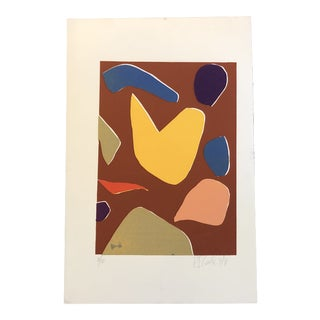 Vintage Original Robert Cooke Abstract Lithograph 1970's For Sale