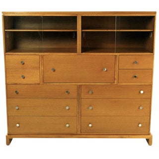 1940s c.g. Kimerly for Widdicomb Mahogany Bookcase Secretary For Sale